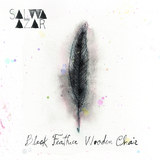 Salwa Azar - Black Feather Wooden Chair